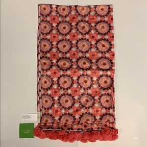 kate spade New York floral mosaic silk scarf
